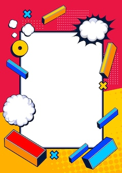 Conception de fond de modèle comique, illustration pop art.