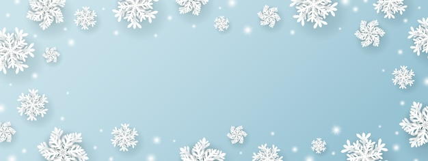 Conception de fond de noël et hiver de flocon de neige.
