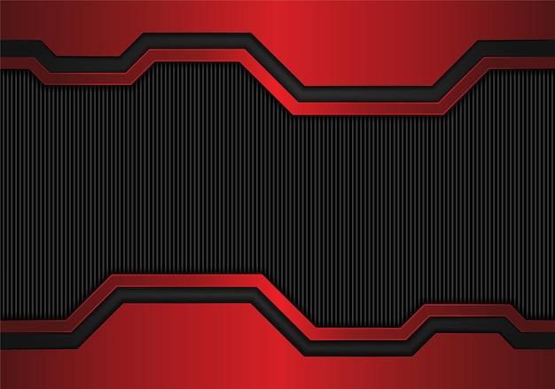 Conception de fond noir rouge métallique abstrait moderne