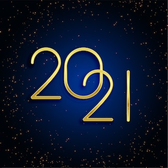 Conception de fond de paillettes d'or 2021 bonne année