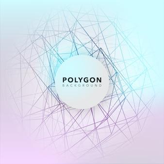 Conception de fond polygonale