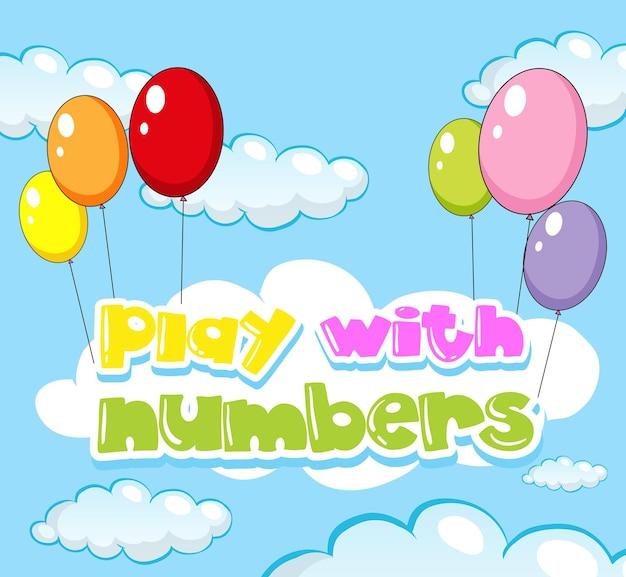 Conception de fond pour jouer avec des nombres