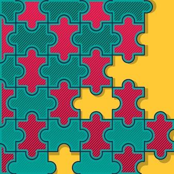 Conception de fond de puzzle