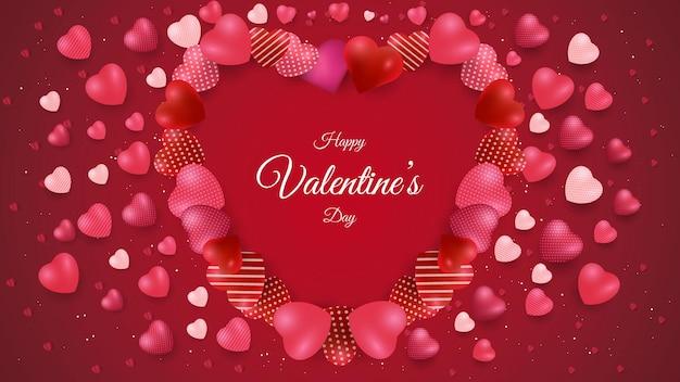 Conception de fond de saint valentin avec forme d'amour