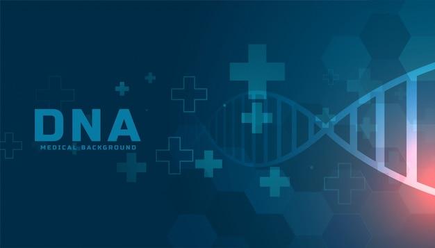 Conception de fond de soins de santé de structure d'adn médical