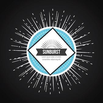 Conception de fond sunburst