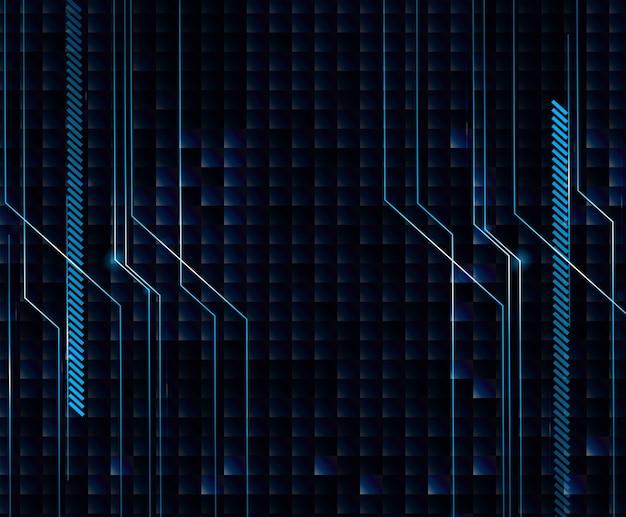 Conception de fond avec un thème bleu et noir