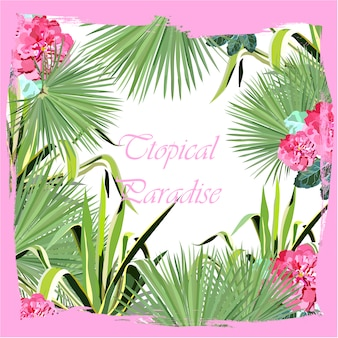 Conception de fond tropicale