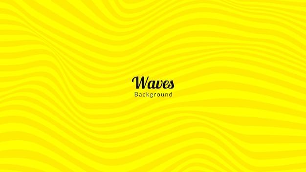 Conception de fond de vague jaune