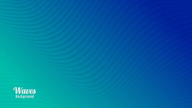 Conception de fond de vagues abstraites bleues et vertes colorées