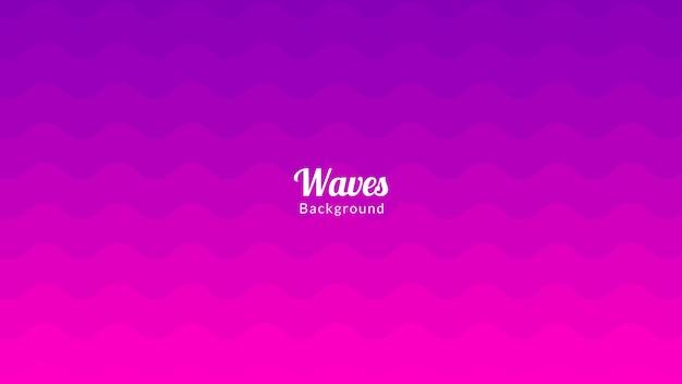 Conception de fond de vagues en zigzag rose et violet coloré