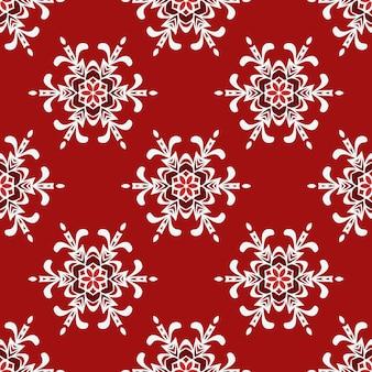 Conception de fond de vecteur de flocon de neige d'hiver de noël rouge