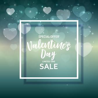 Conception de fond de vente d'amour et de sentiments de la saint-valentin. illustration vectorielle eps10