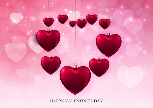 Conception de fond de vente d'amour et de sentiments de la saint-valentin.