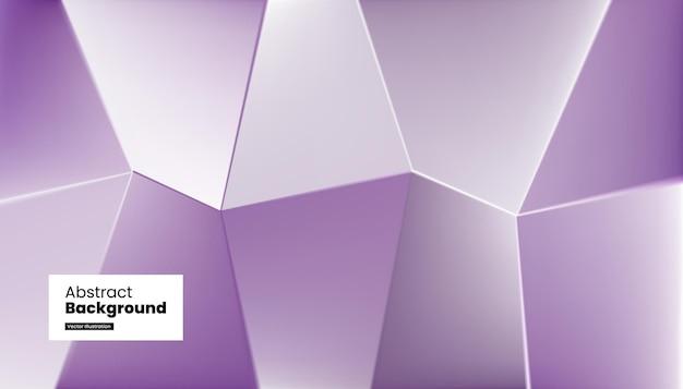Conception de fond violet cristal verre abstrait