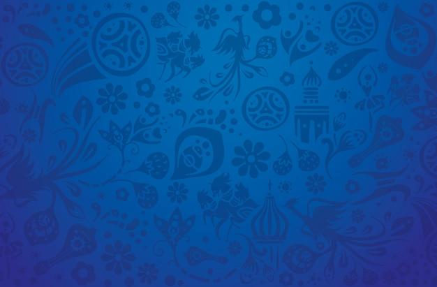 Conception de football motif bleu.