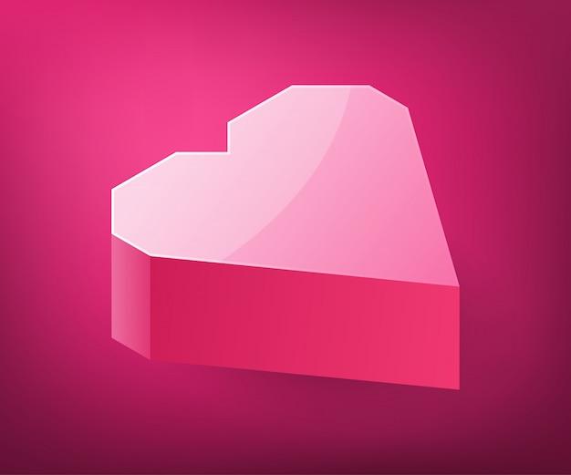 Conception De Forme De Coeur Isométrique. Vecteur Premium