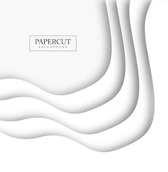 Conception de forme créative moderne en papier papercut