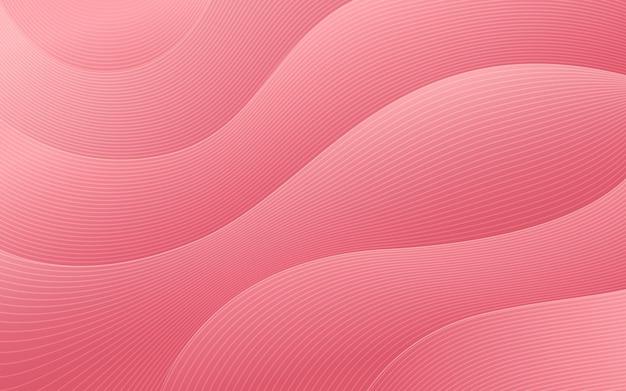Conception de forme d'onde de couleur dégradé rouge abstrait