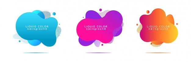 Conception de formes géométriques abstraites de couleur liquide.