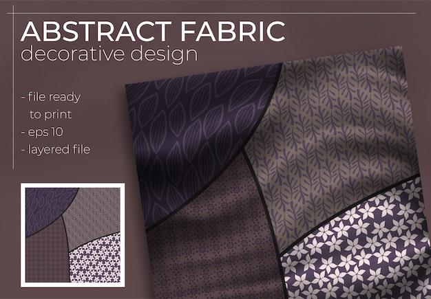 Conception de foulard en soie abstraite en carré pour impression hijab, foulard en soie ou foulard