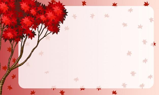 Conception de la frontière avec des feuilles d'érable rouge