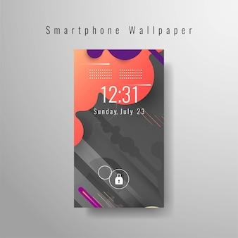 Conception futuriste abstraite de fond d'écran de smartphone