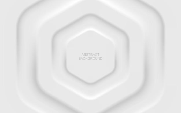 Conception futuriste claire et douce des éléments de forme hexagonale. fond blanc minimaliste. fond de vecteur de papier peint abstrait pour bannière, affiche, flyer, carte