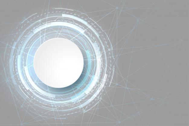 Conception futuriste de visualisation de données de technologie rougeoyante