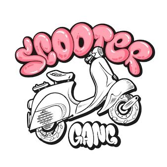 Conception de gangs de scooters