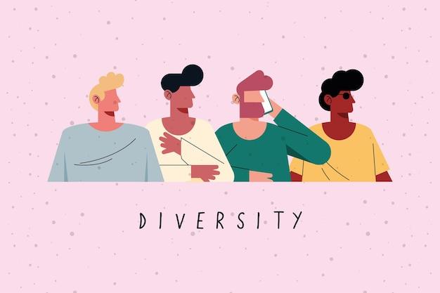 Conception de garçons de diversité