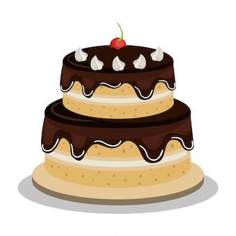 Conception de gâteau joyeux anniversaire