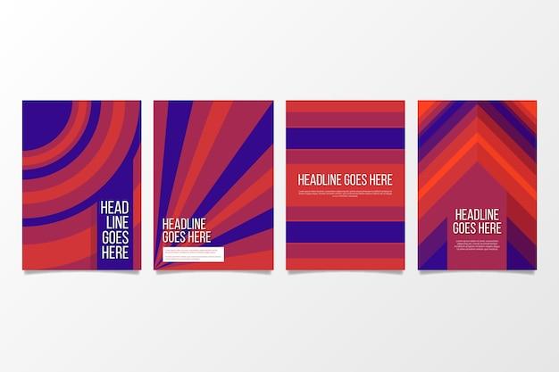 Conception géométrique abstraite de la collection de couvertures