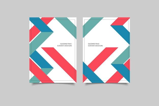 Conception géométrique de couverture rétro
