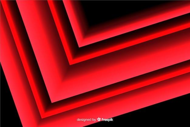 Conception géométrique de fond avec la lumière rouge