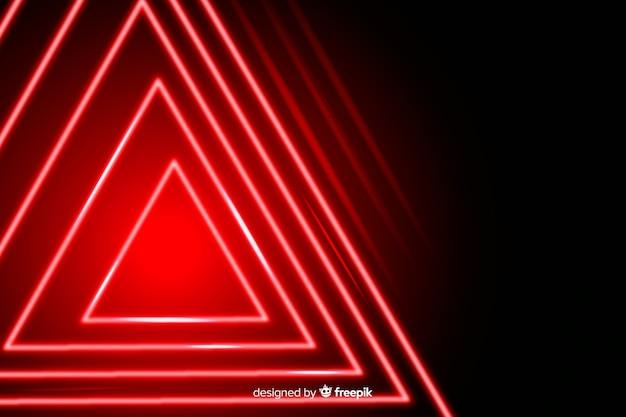 Conception géométrique de fond des lumières rouges