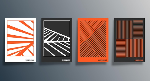 Conception géométrique minimale pour flyer, affiche, couverture de brochure, arrière-plan, papier peint, typographie ou autres produits d'impression. illustration vectorielle.