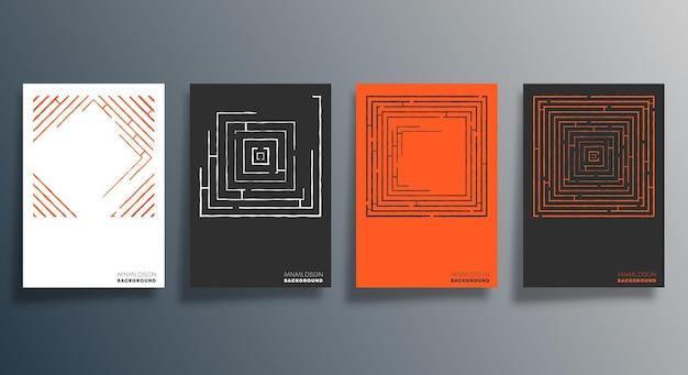 Conception géométrique minimale pour flyer, affiche, couverture de brochure