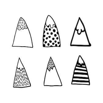 Conception géométrique nordique vector simple mountainin style scandinave moderne