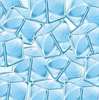 Conception de glace au cours de l'illustration vectorielle fond bleu