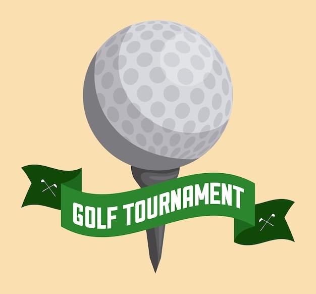 Conception de golf au cours de l'illustration vectorielle fond rose