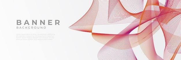 Conception graphique abstraite de vecteur rouge moderne modèle de fond de modèle de bannière.