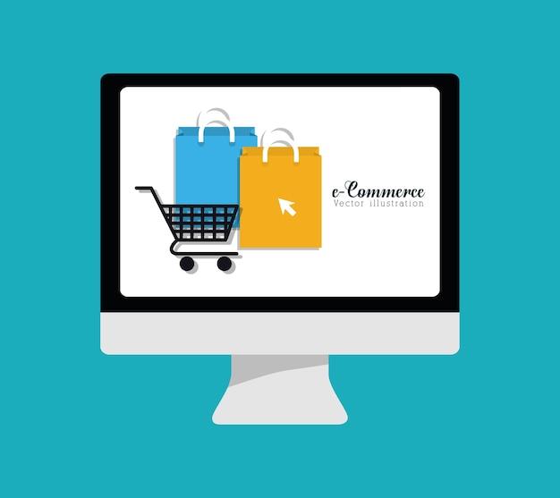 Conception graphique d'achats et de commerce électronique