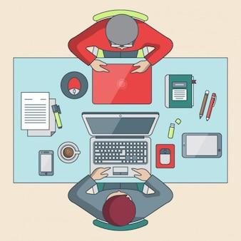 Conception graphique agence espace de travail