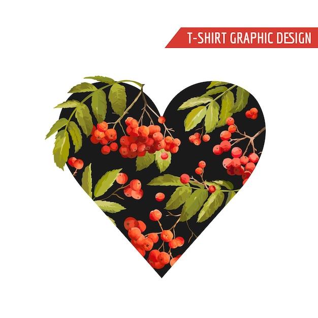 Conception graphique de coeur floral