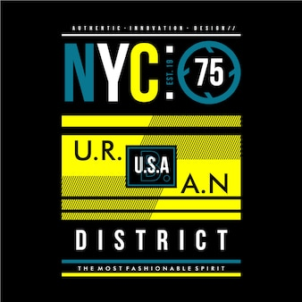 Conception graphique de district urbain de nyc