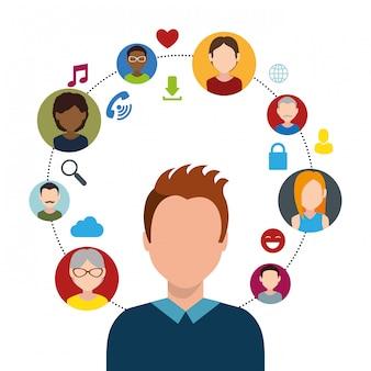 Conception graphique de divertissement sur les médias sociaux