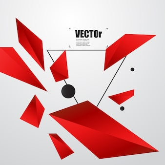Conception graphique du concept abstrait fond noir rouge.