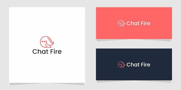 La conception graphique du logo chat fire tech pour d'autres utilisations est très appropriée pour une utilisation