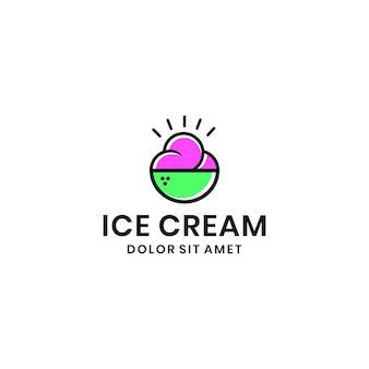 Conception graphique du logo de la crème glacée